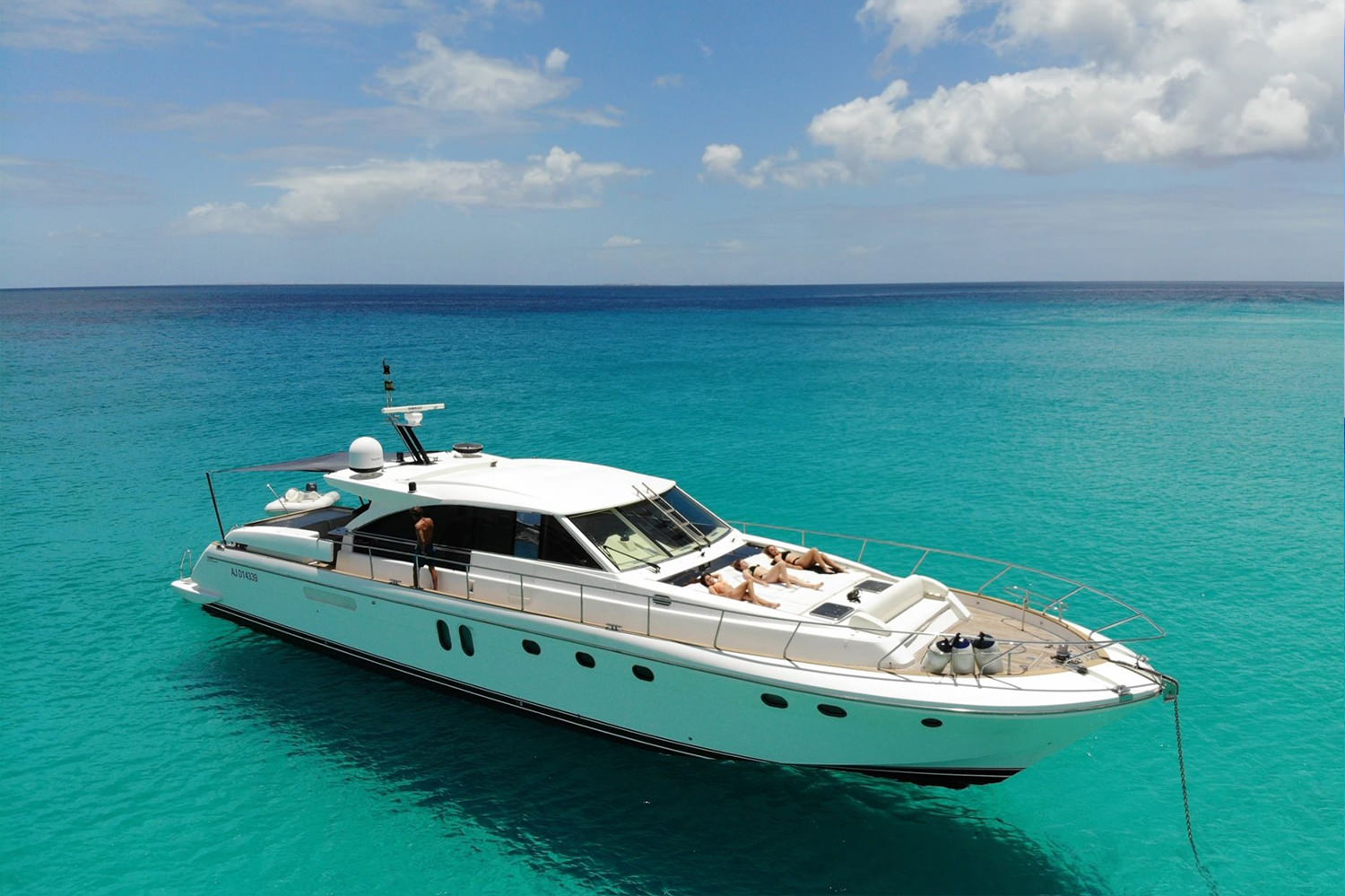 The Couach 71 is an elegantly designed yacht, with clean lines.