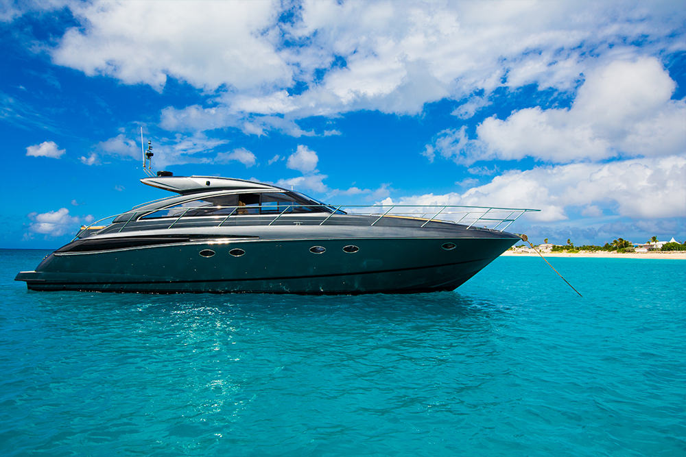 The VanDutch 55 is an elegantly designed yacht, with clean lines.