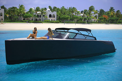 The VanDutch 40 is an elegantly designed yacht, with clean lines.